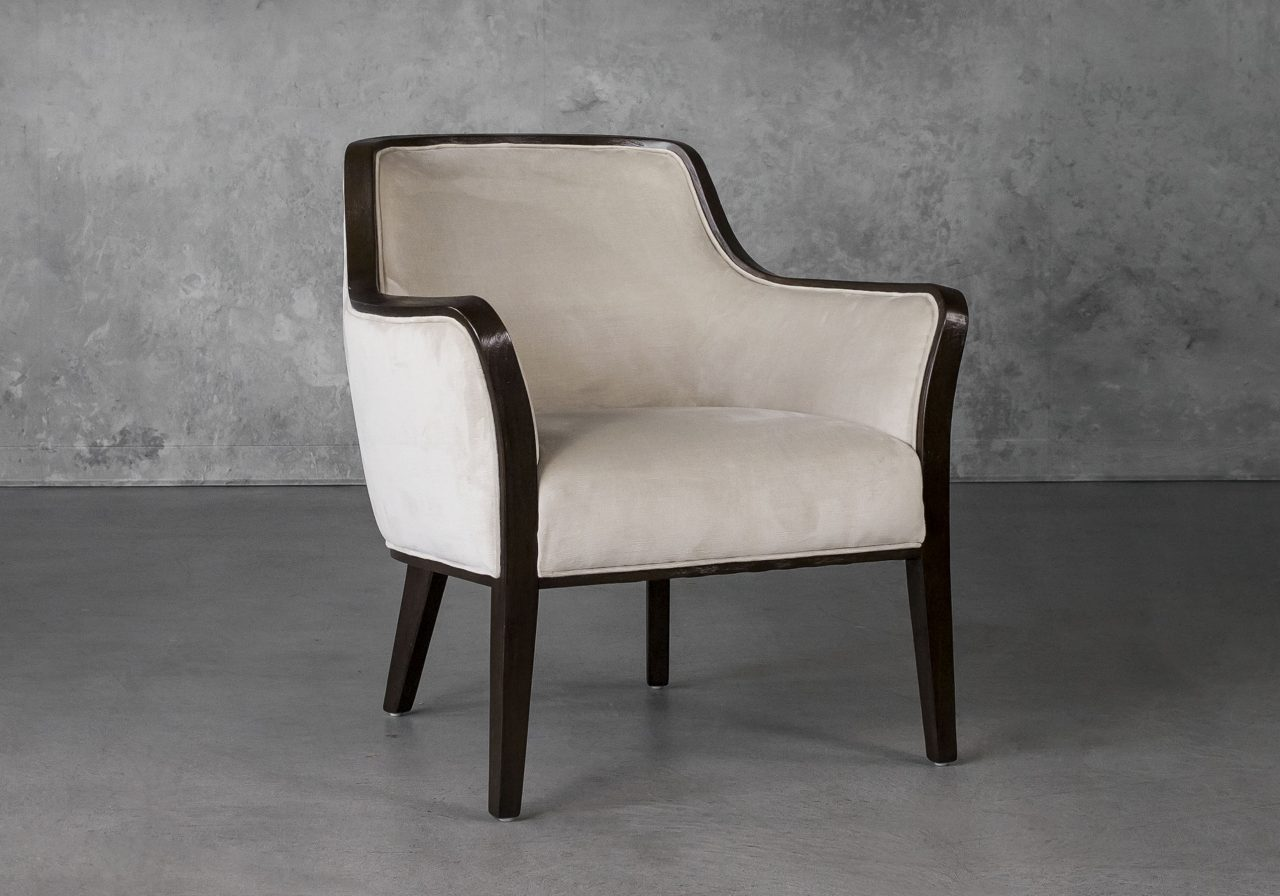 Audrey Chair in Beige (C686) Fabric, Angle