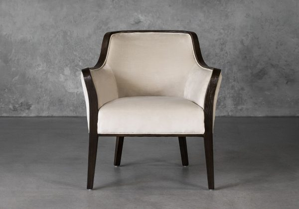Audrey Chair in Beige (C686) Fabric, Front