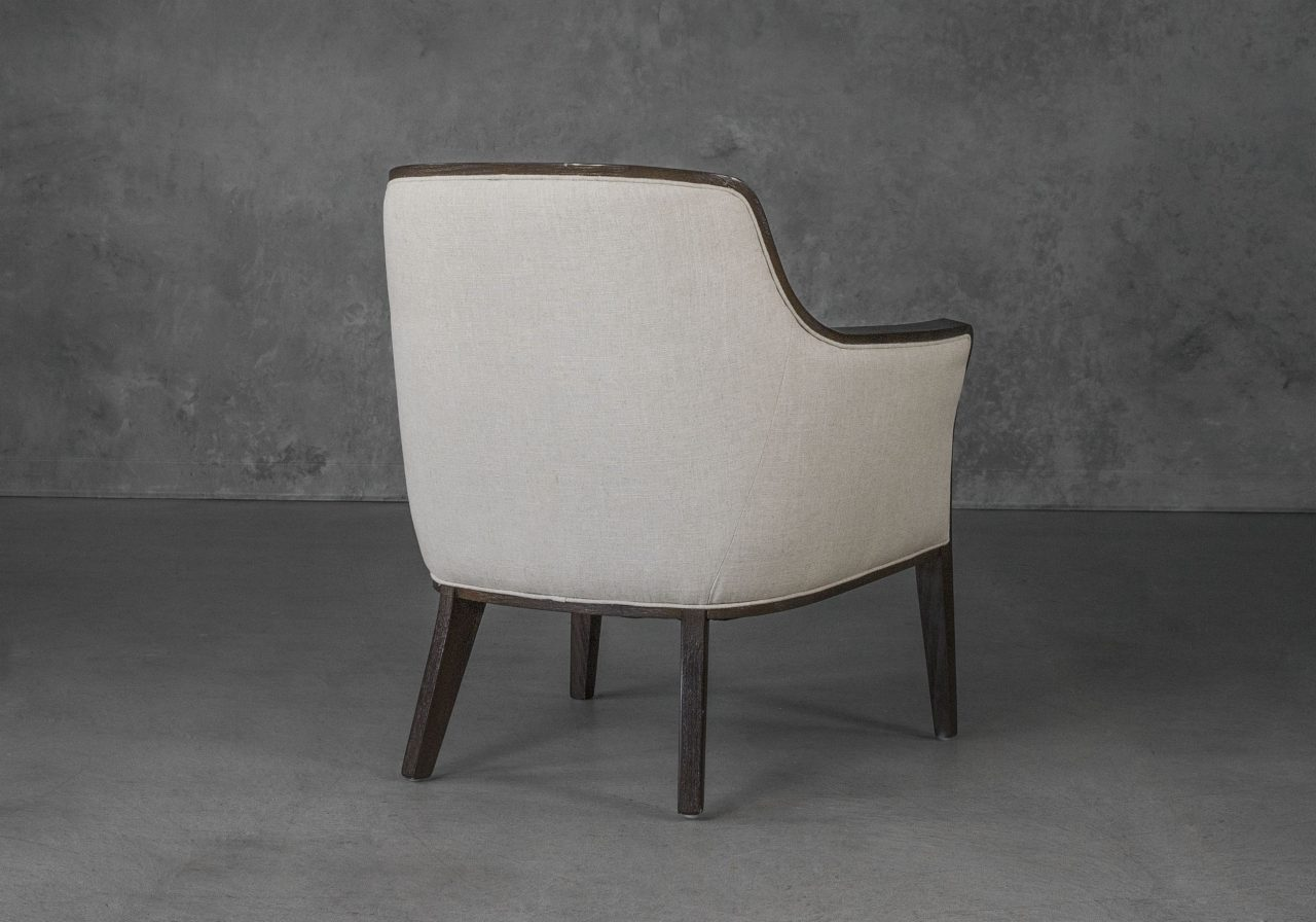 Audrey Chair in Linen (CW018) Fabric, Back