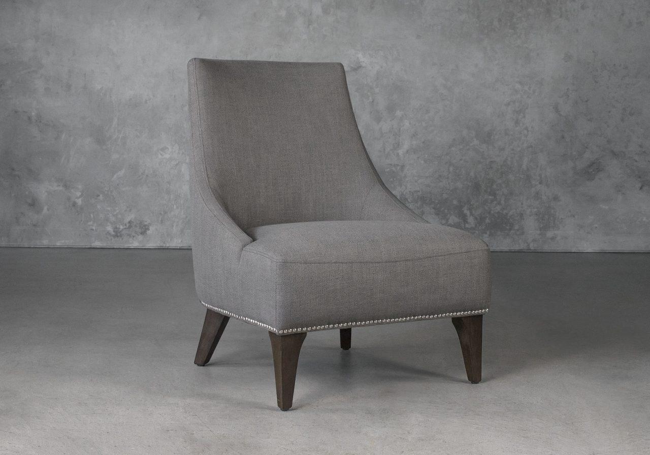 Blair Accent Chair in Smoke Grey (B1222) Fabric, Angle