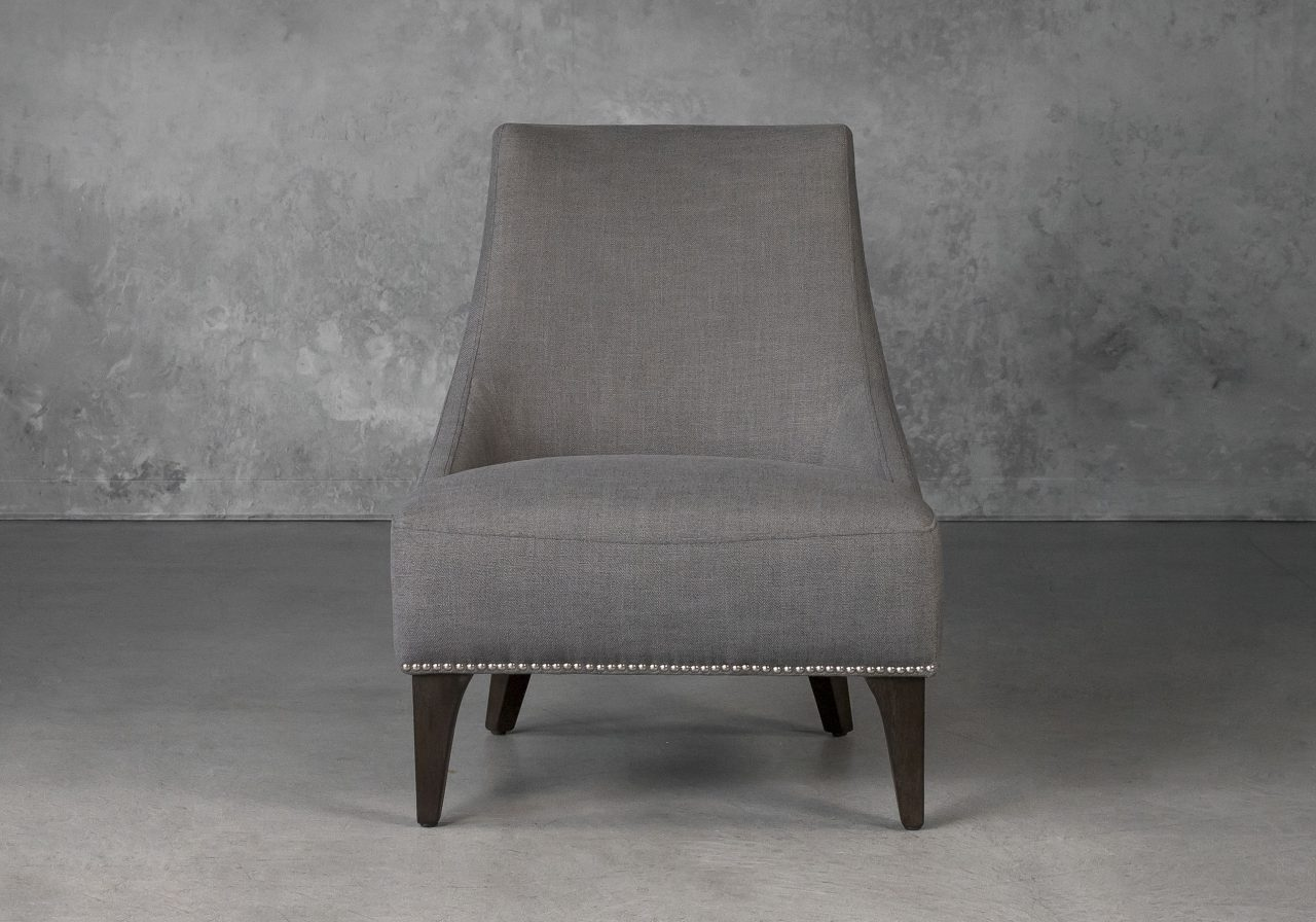 Blair Accent Chair in Smoke Grey (B1222) Fabric, Front