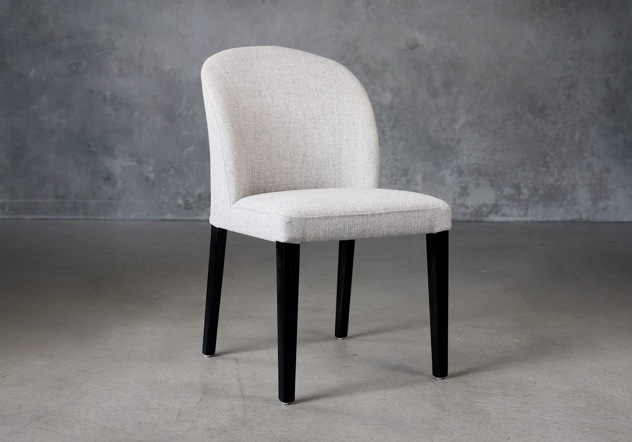Cape Dining Chair in Light Grey Fabric (C786), Angle
