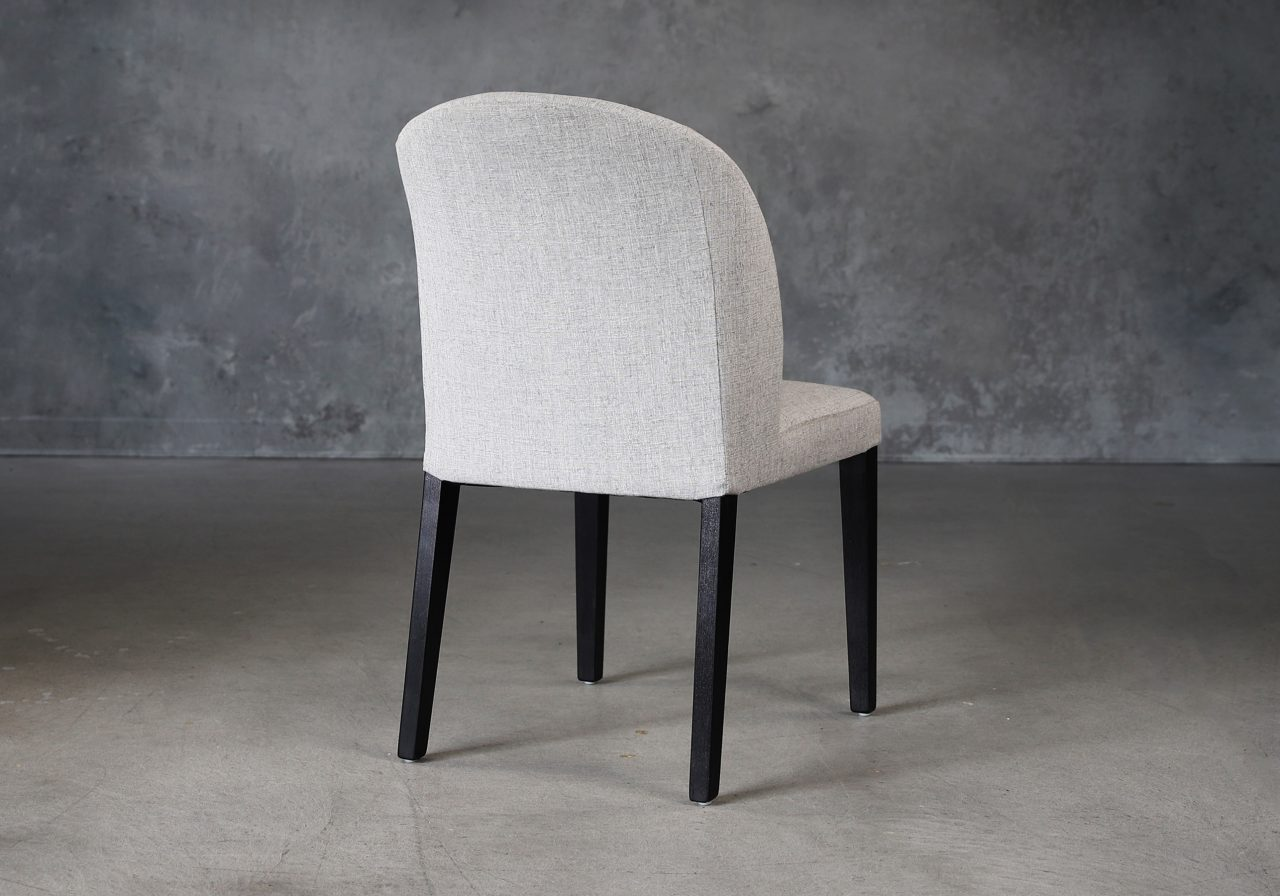 Cape Dining Chair in Light Grey Fabric (C786), Back