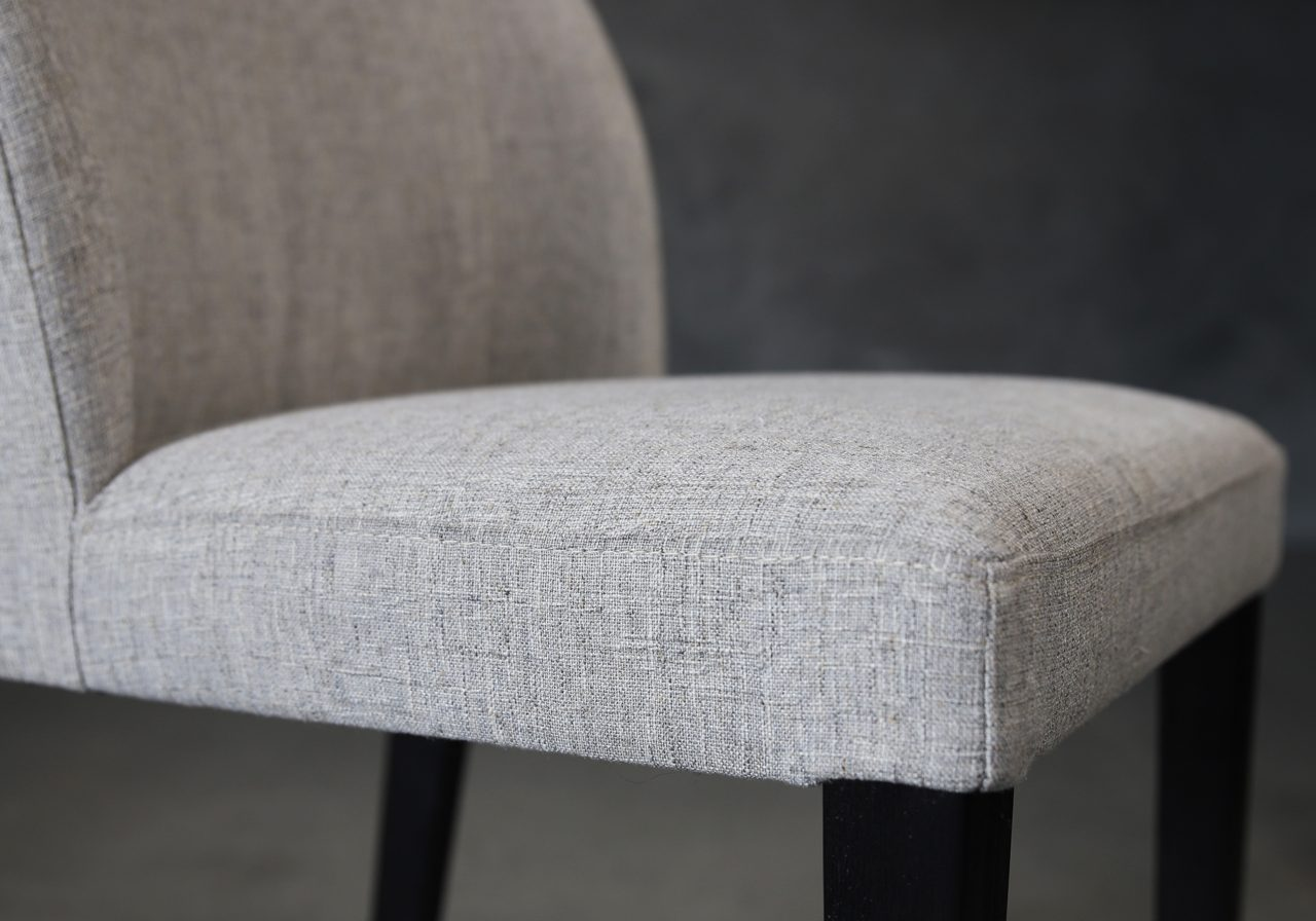Cape Dining Chair in Light Grey Fabric (C786), Close Up