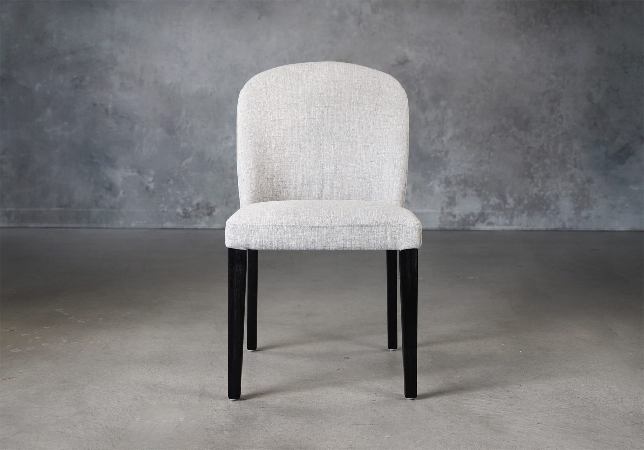 Cape Dining Chair in Light Grey Fabric (C786), Front