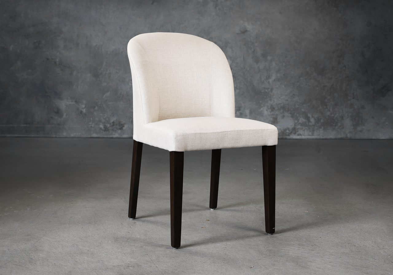 Cape Dining Chair in Linen Fabric (CW018), Angle