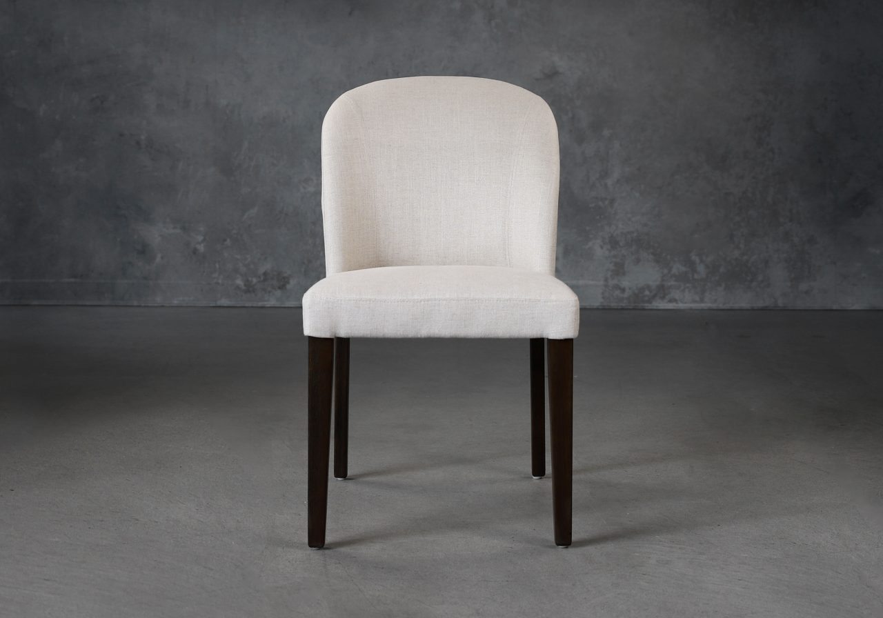 Cape Dining Chair in Linen Fabric (CW018), Front