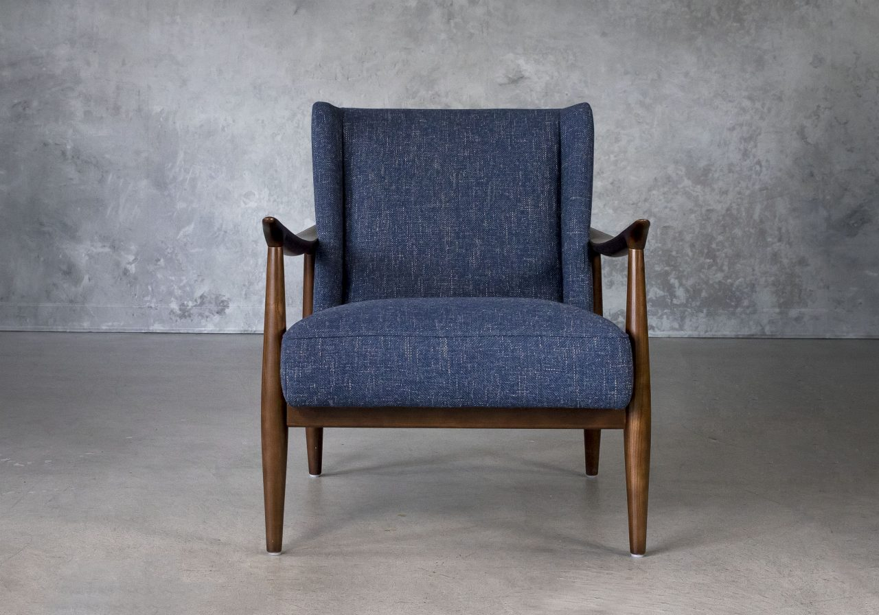 Clifton Chair in Blue (C1012) Fabric, Front