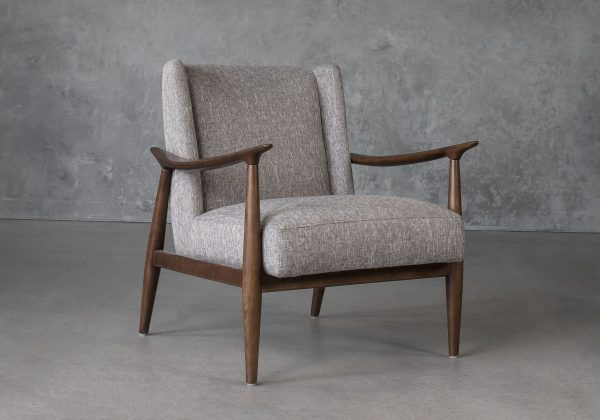 Clifton Chair in Grey (B543) Fabric, Angle