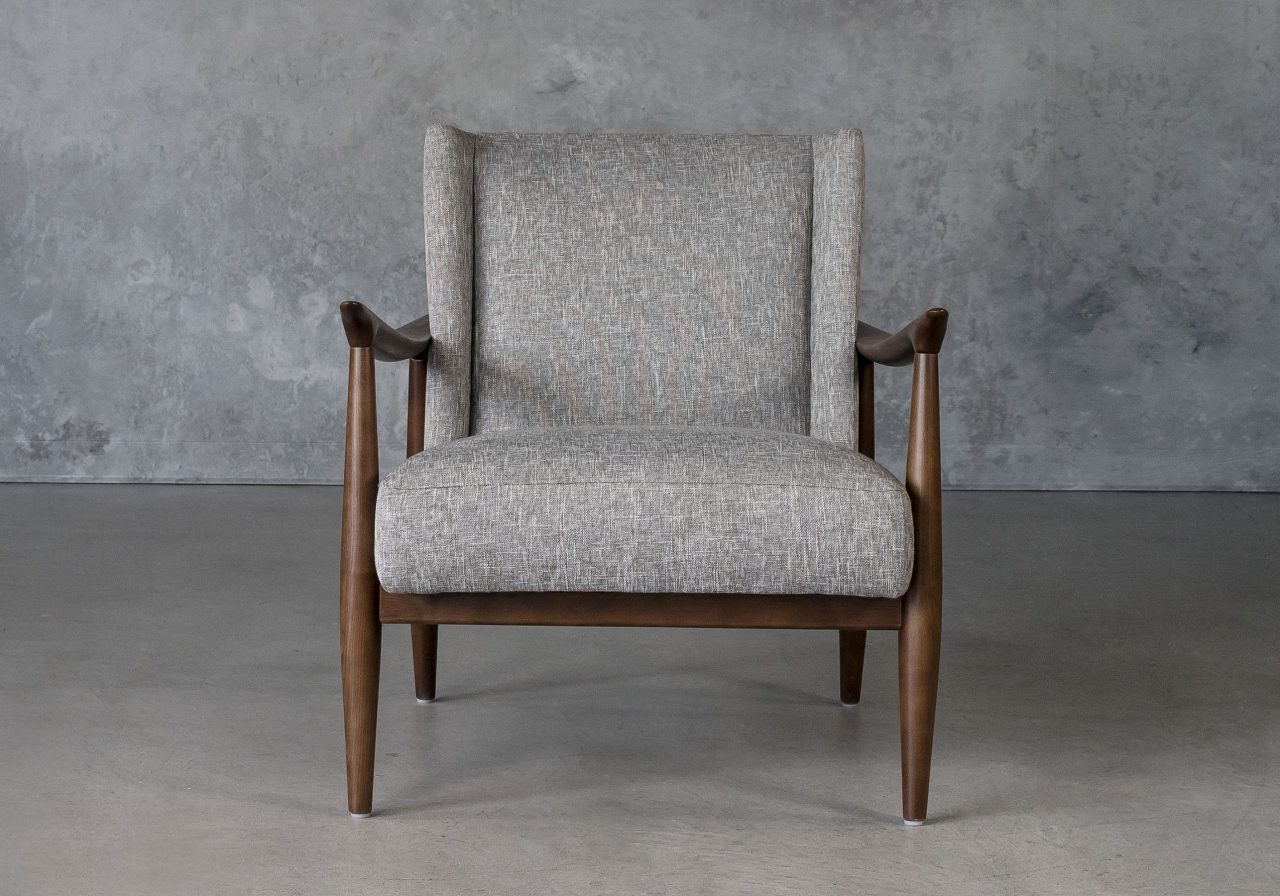 Clifton Chair in Grey (B543) Fabric, Front