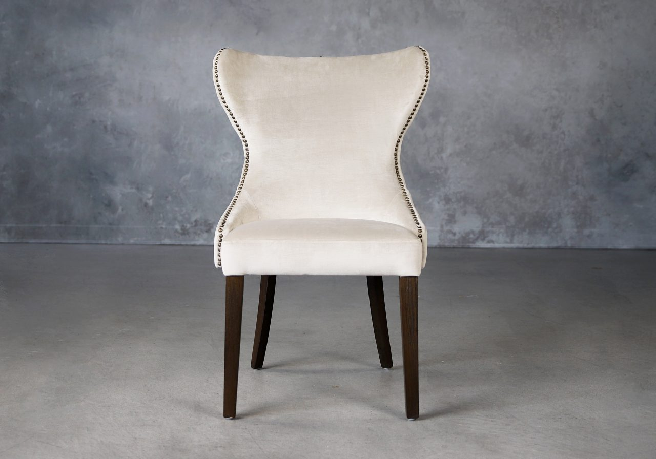 Darcy Dining Chair in Beige Fabric (C686), Front