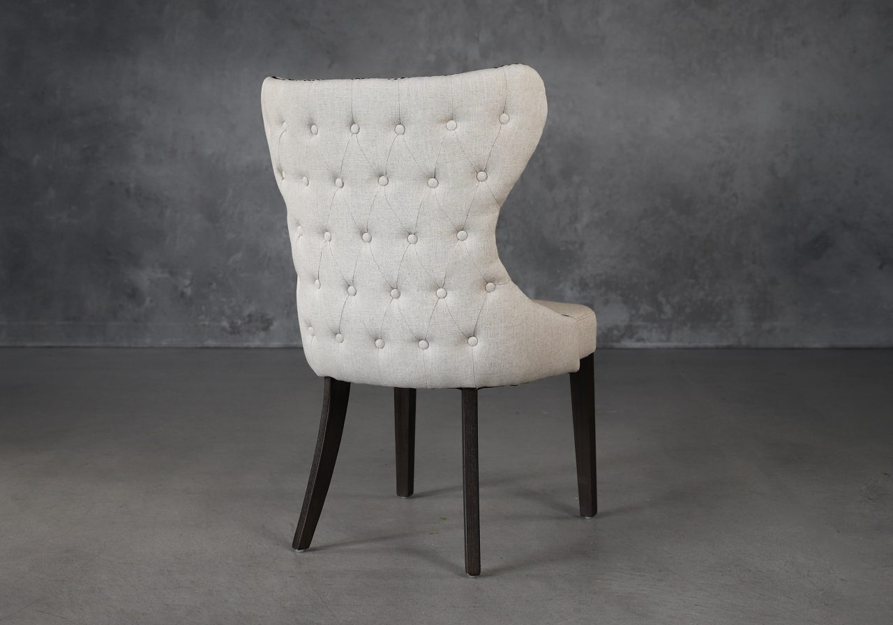 Darcy Dining Chair in Linen Fabric (CW018), Back