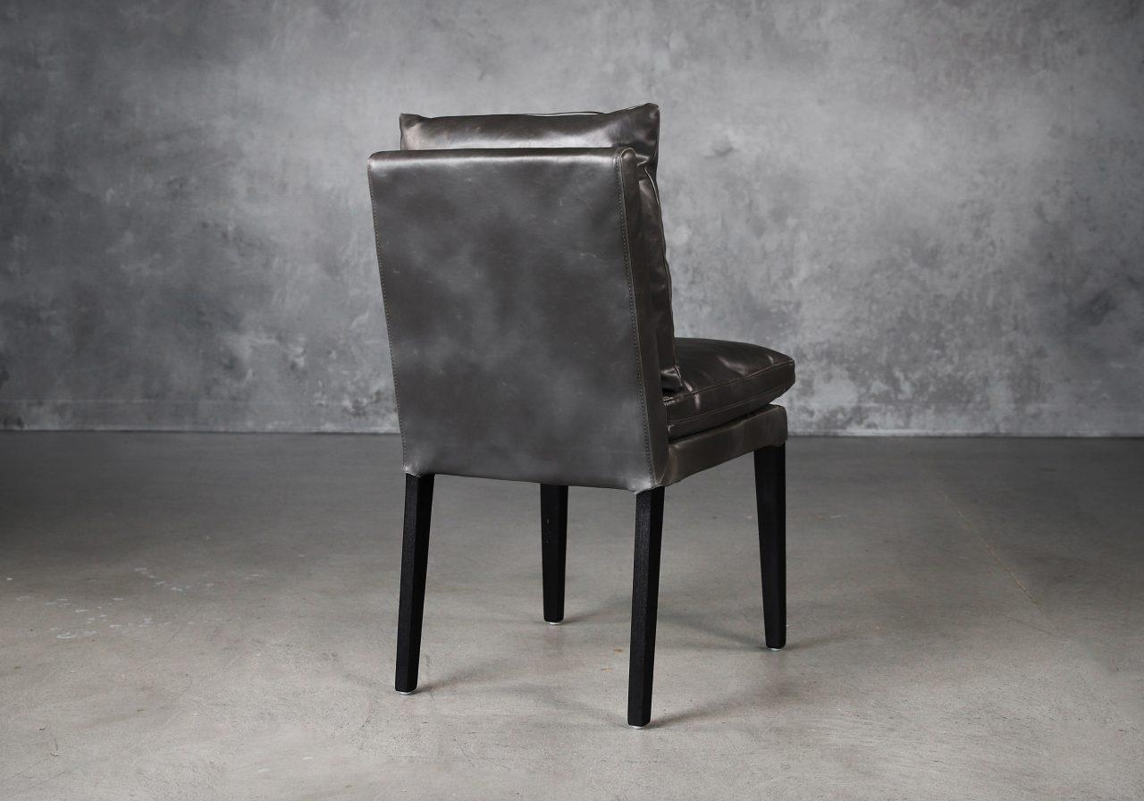 Derek Dining Chair in Dark Grey Vinyl (CU627), Back
