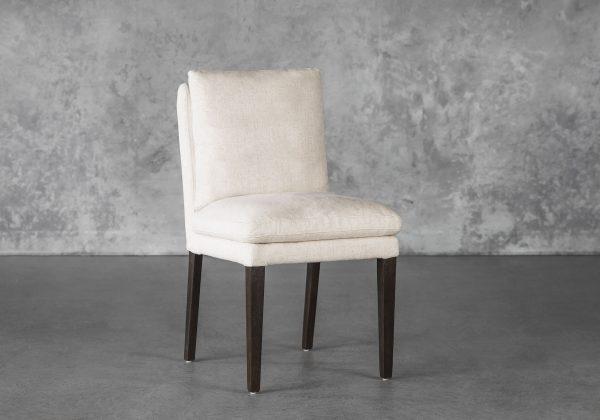 Derek Dining Chair in Linen, Angle