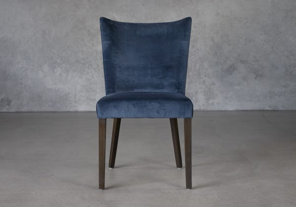 Greg Dining Chair in Teal (C758) Fabric and Nutmeg Legs, Front
