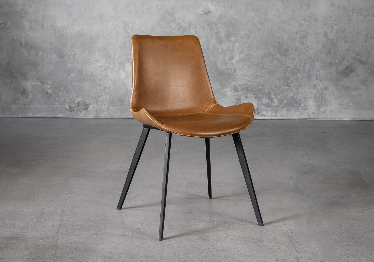 Hype Dining Chair in Tan Vinyl, Angle