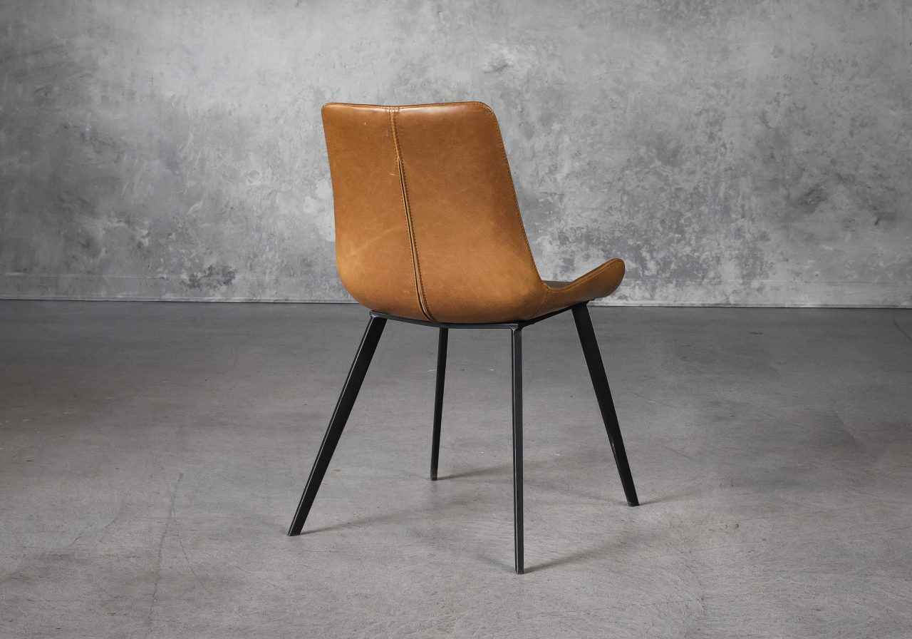 Hype Dining Chair in Tan Vinyl, Back