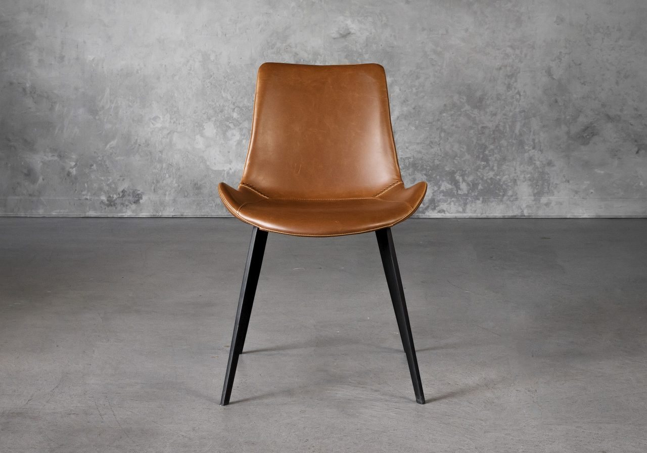 Hype Dining Chair in Tan Vinyl, Front