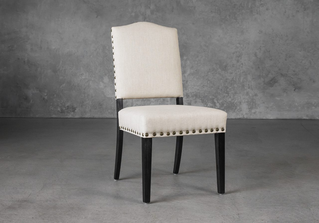 Lisa Dining Chair in Linen (CW018) Fabric, Angle