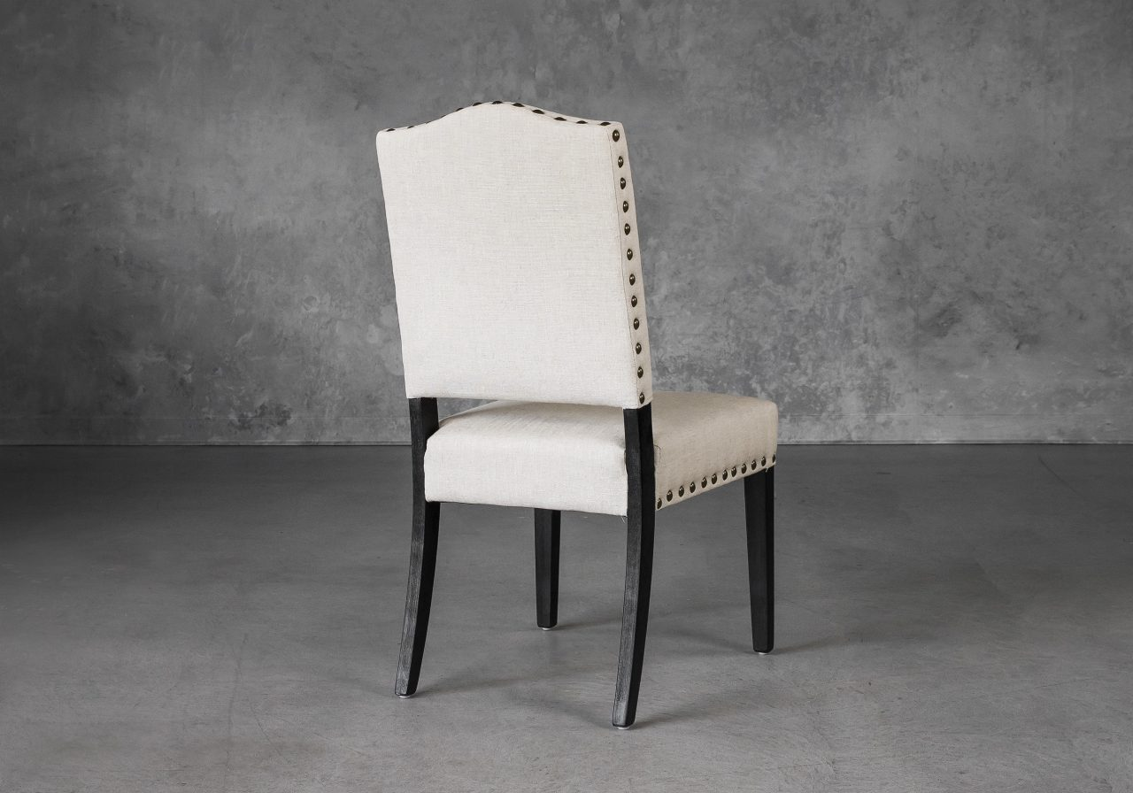 Lisa Dining Chair in Linen (CW018) Fabric, Back
