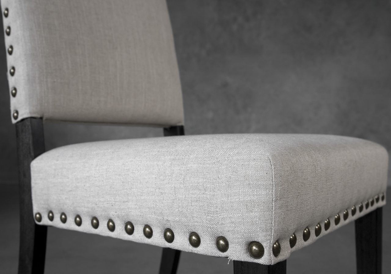 Lisa Dining Chair in Linen (CW018) Fabric, Close Up