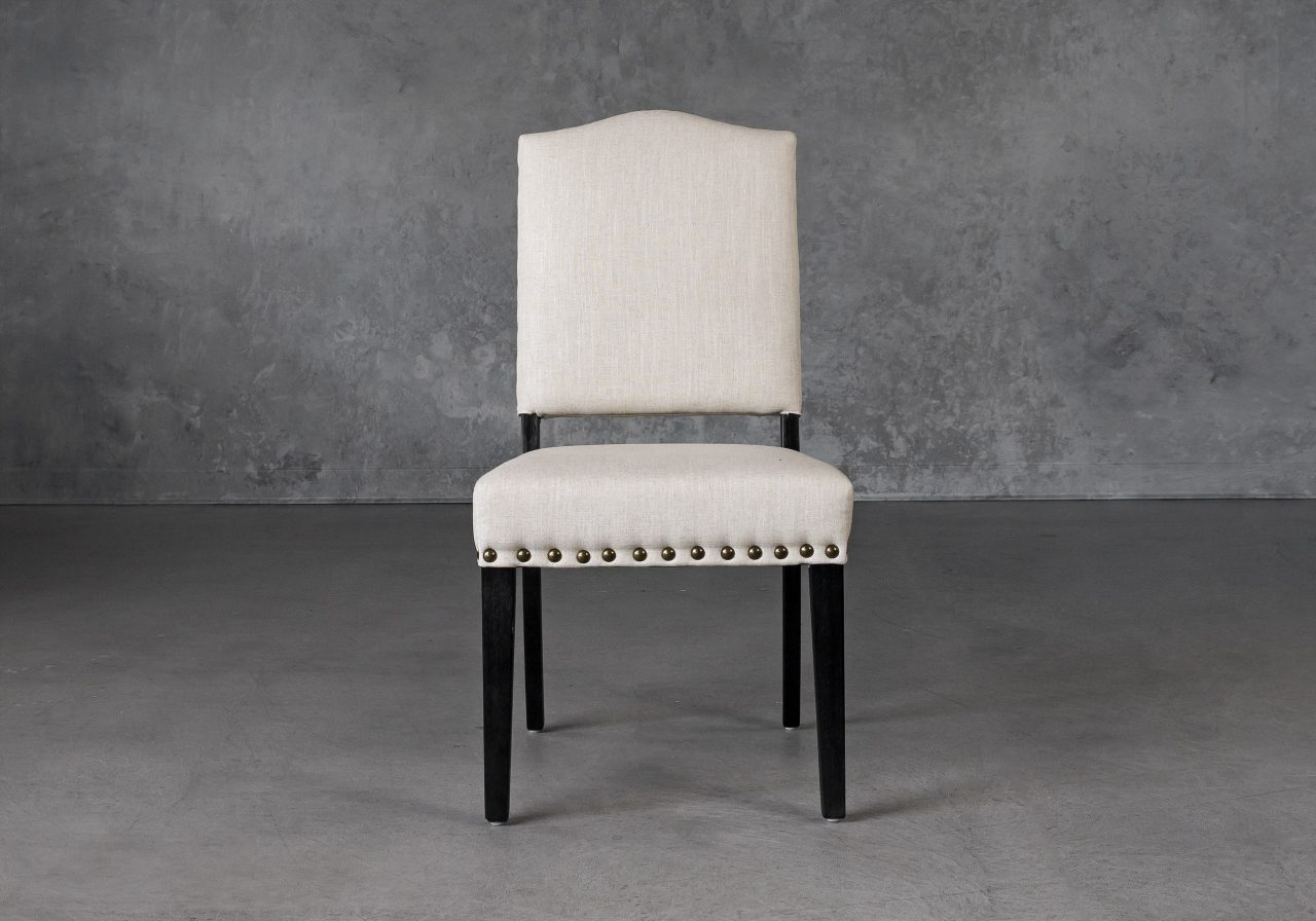 Lisa Dining Chair in Linen (CW018) Fabric, Front