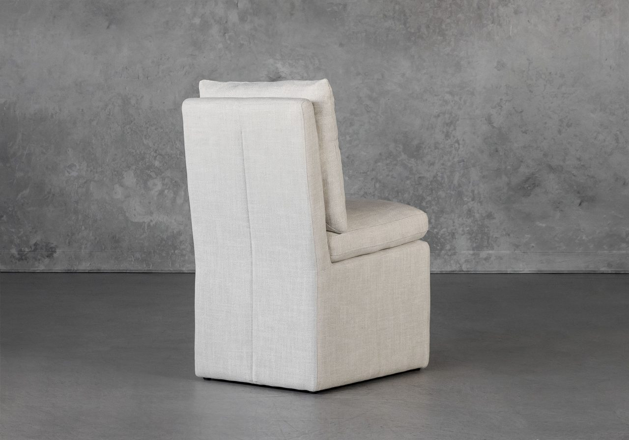 Prague Dining Chair in Linen, Back