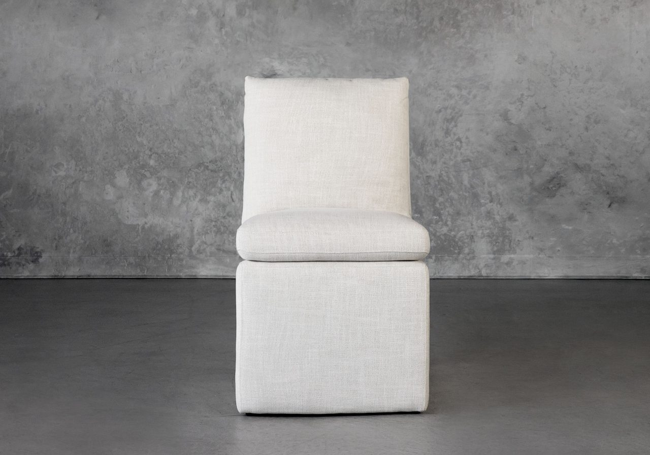 Prague Dining Chair in Linen, Front