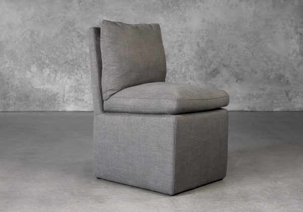 Prague Dining Chair in Smoke (B1222) Fabric, Angle