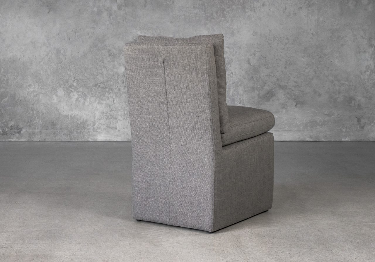 Prague Dining Chair in Smoke (B1222) Fabric, Back