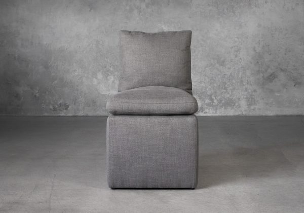 Prague Dining Chair in Smoke (B1222) Fabric, Front