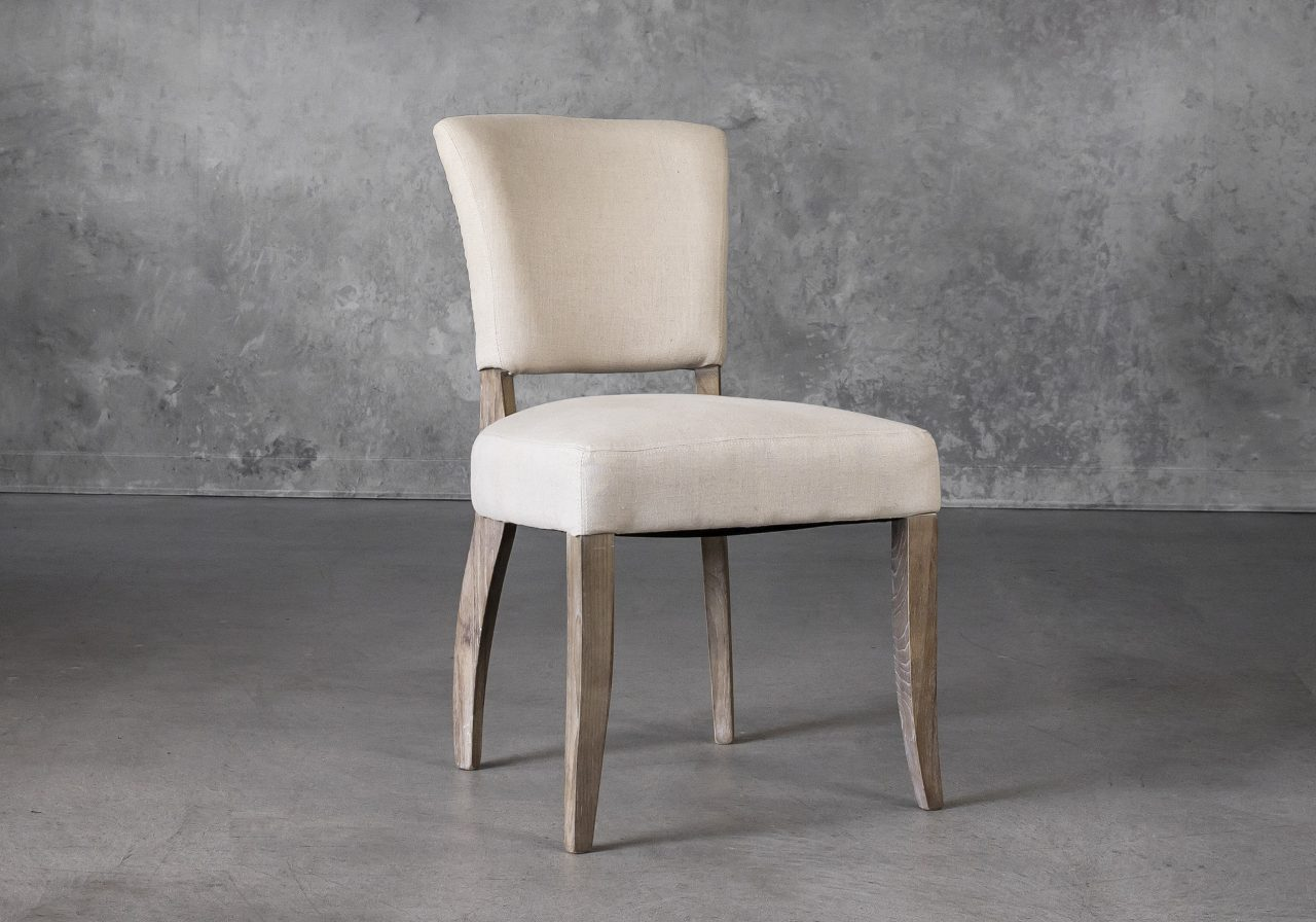 Sio Dining Chair in Cream (P810) Fabric, Angle