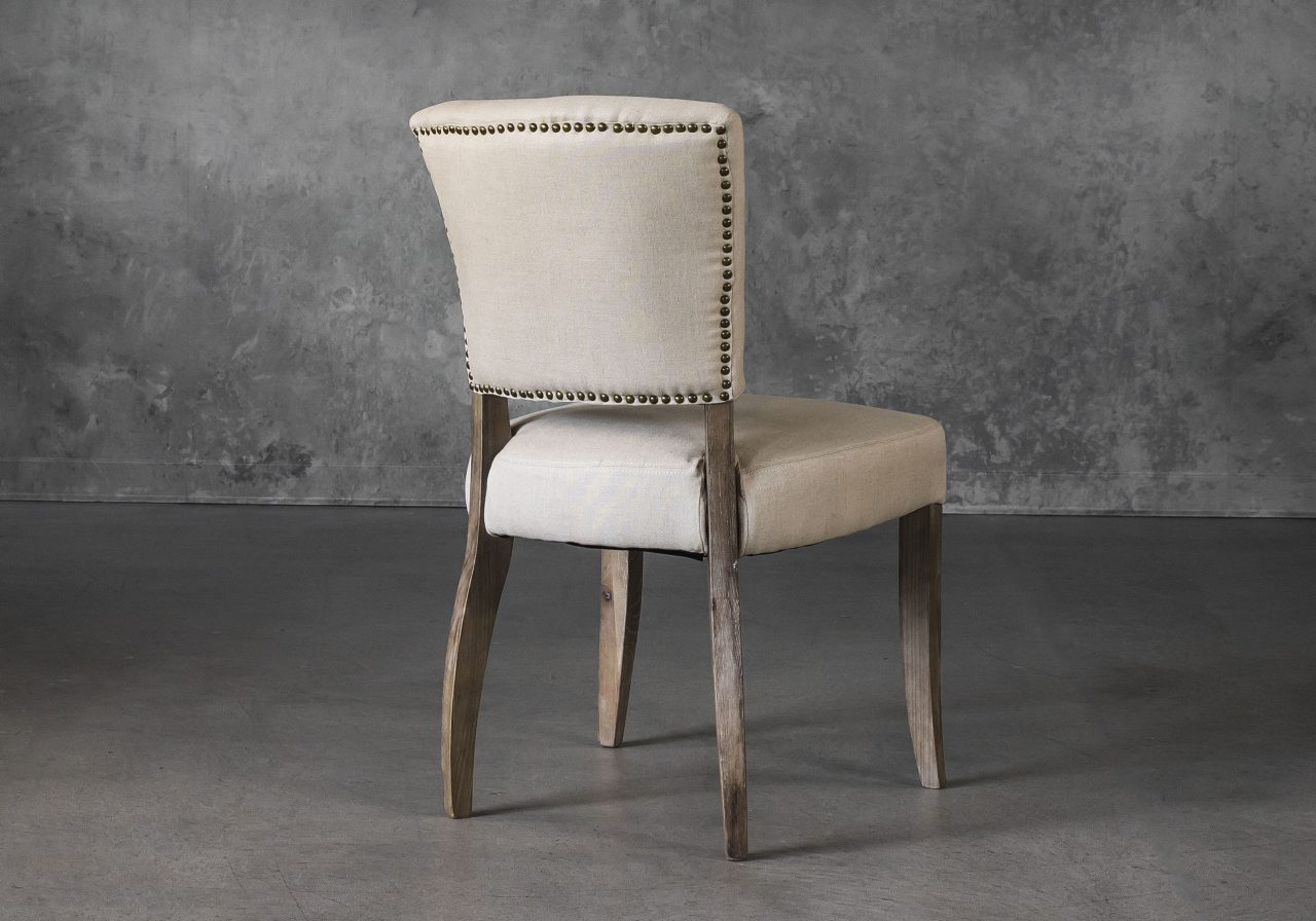 Sio Dining Chair in Cream (P810) Fabric, Back