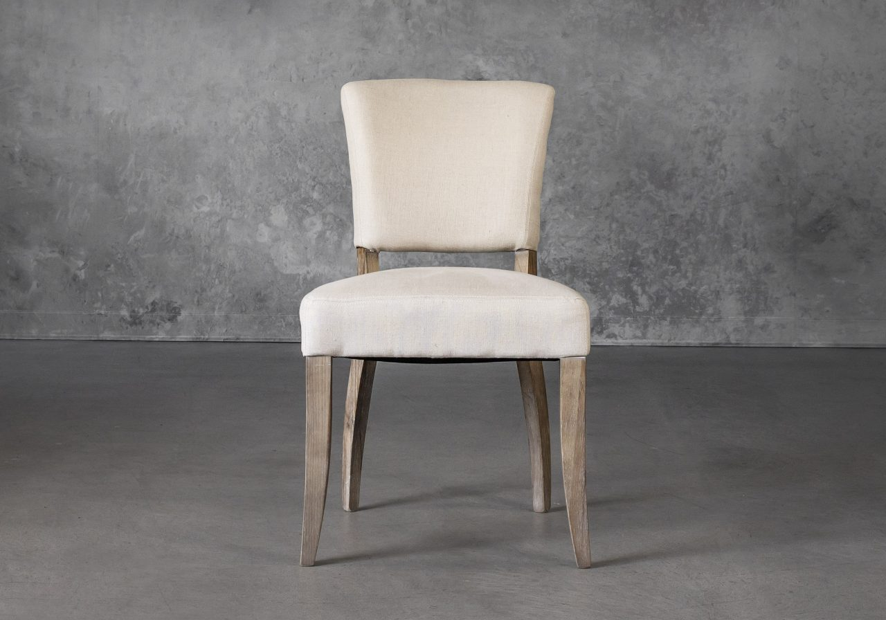 Sio Dining Chair in Cream (P810) Fabric, Front