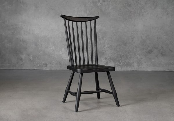 Sofia Dining Chair in Black, Angle