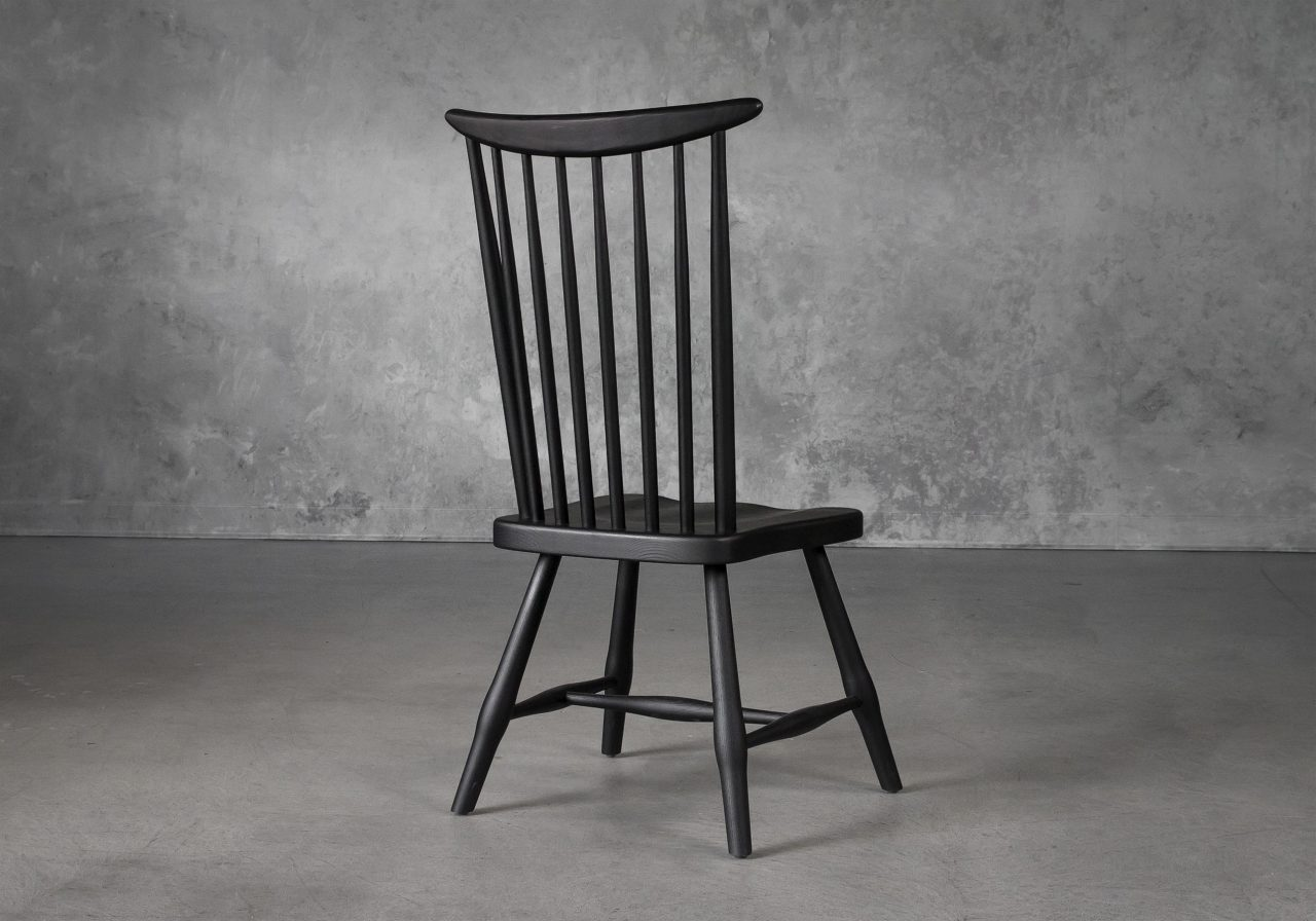 Sofia Dining Chair in Black, Back