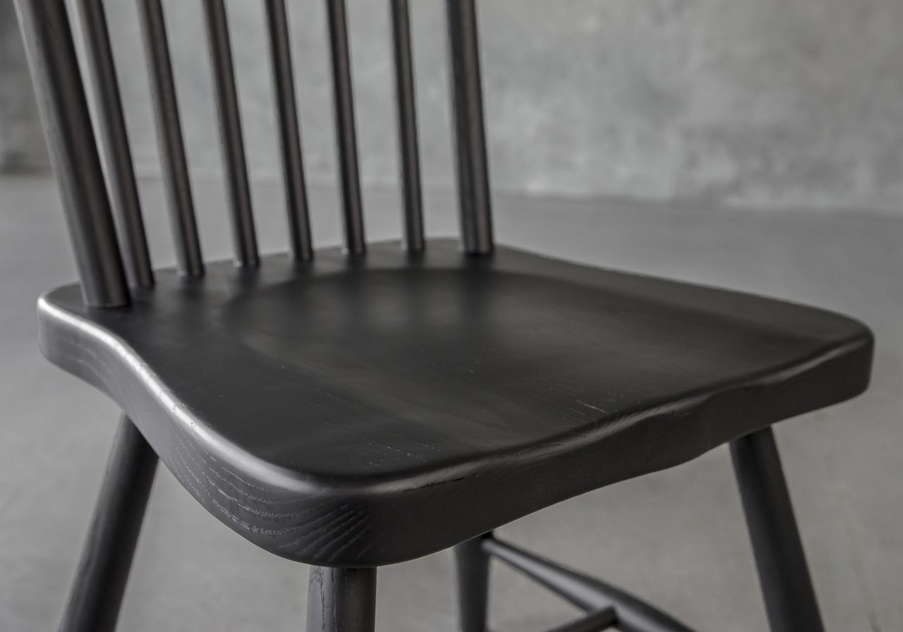 Sofia Dining Chair in Black, Close Up