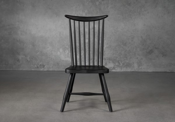 Sofia Dining Chair in Black, Front