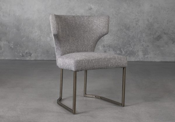 Thelma Dining Chair in Grey (B543) Fabric, Angle