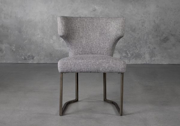 Thelma Dining Chair in Grey (B543) Fabric, Front
