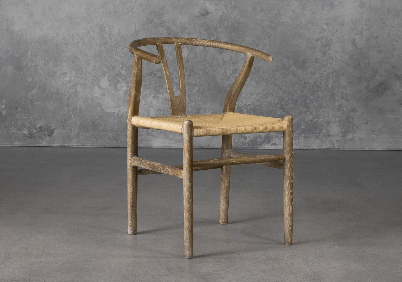 Wishbone Dining Chair in Reclaimed Wood, Angle