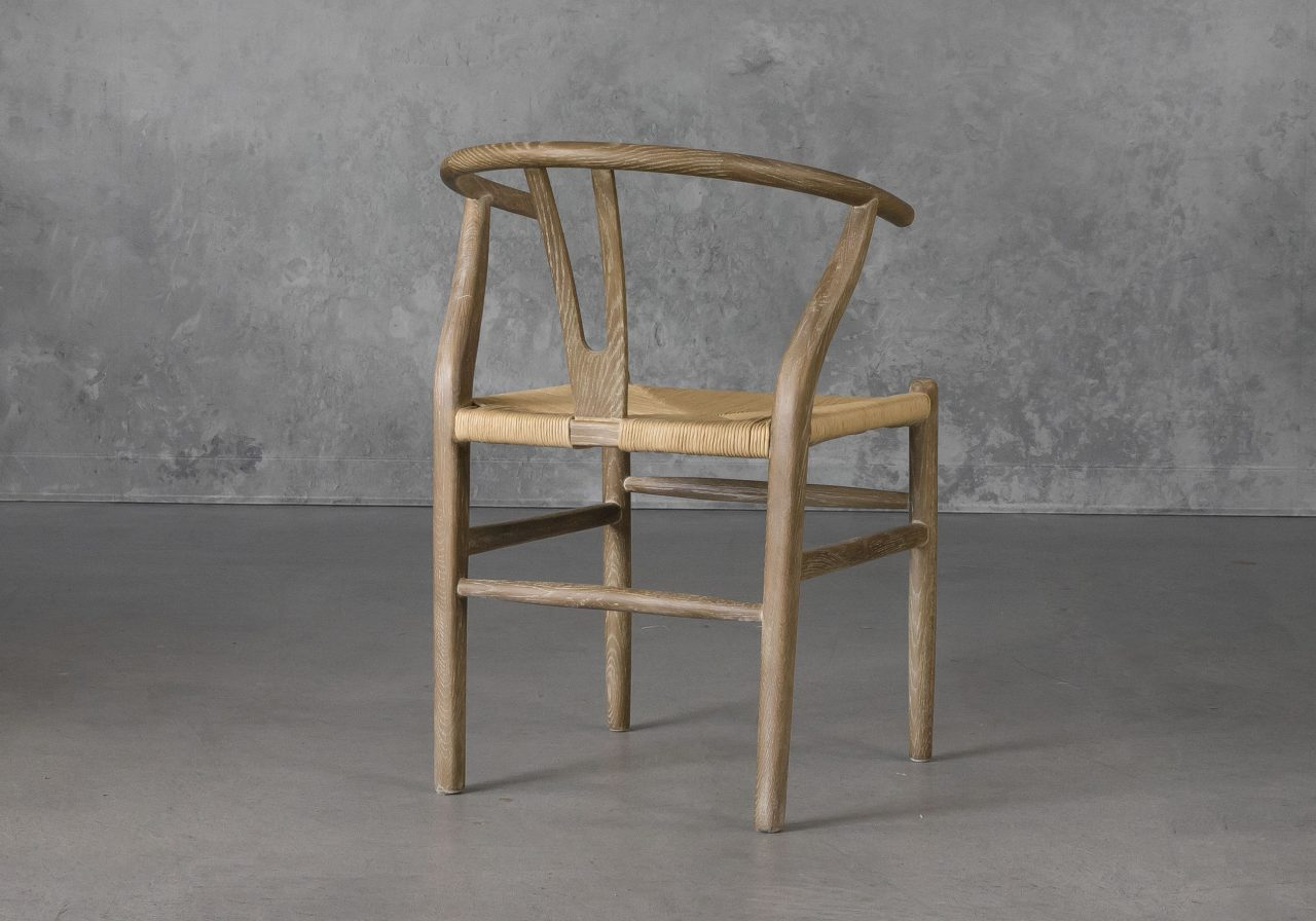 Wishbone Dining Chair in Reclaimed Wood, Back