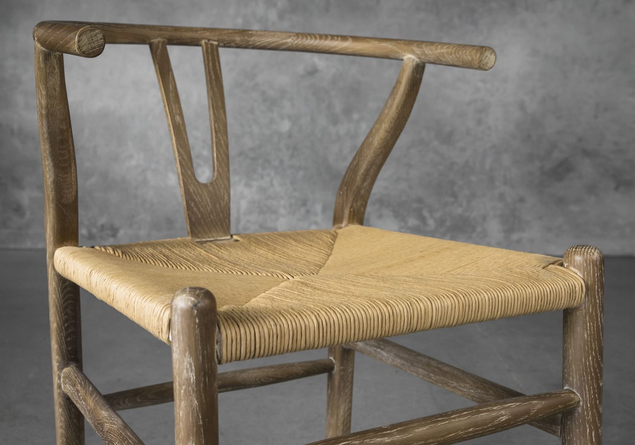 Wishbone Dining Chair in Reclaimed Wood, Close Up