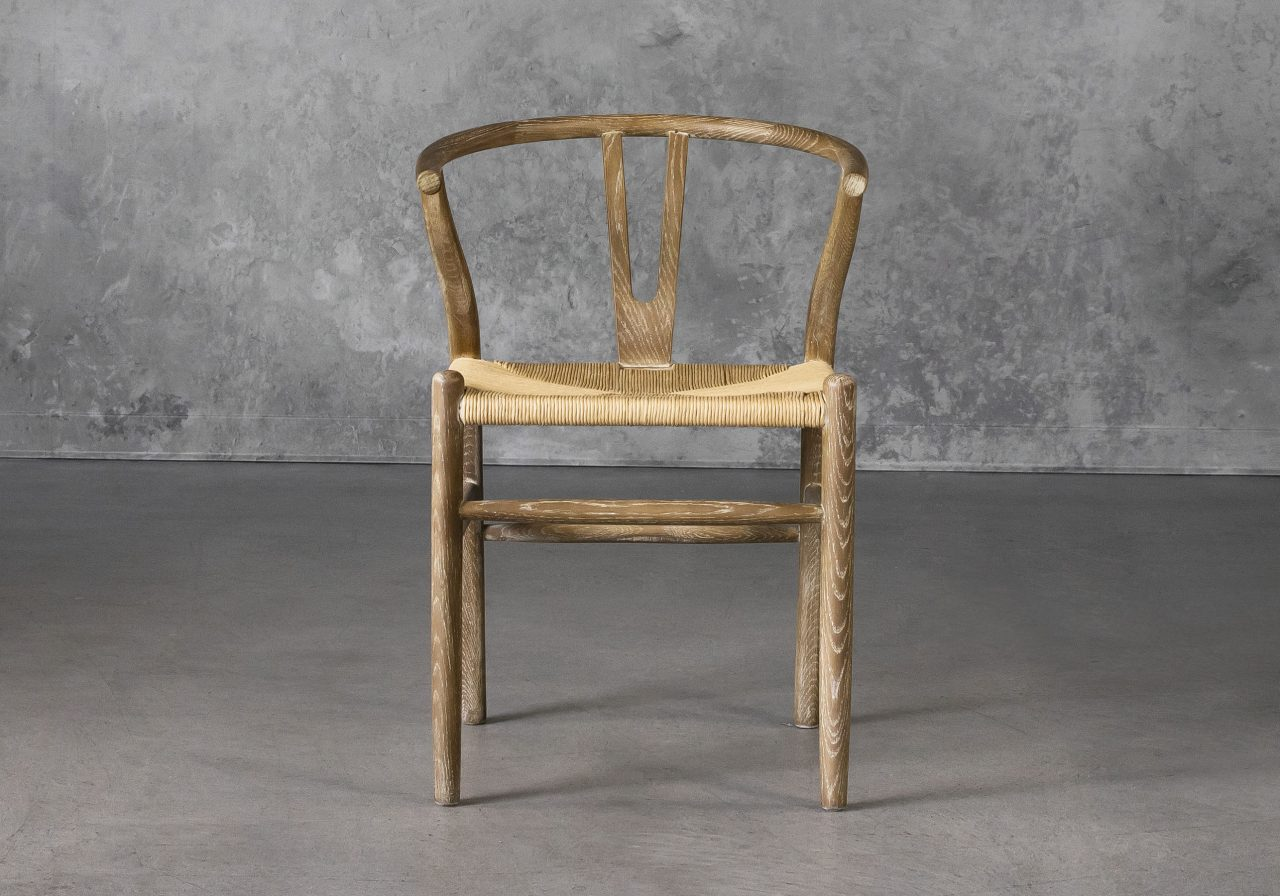Wishbone Dining Chair in Reclaimed Wood, Front