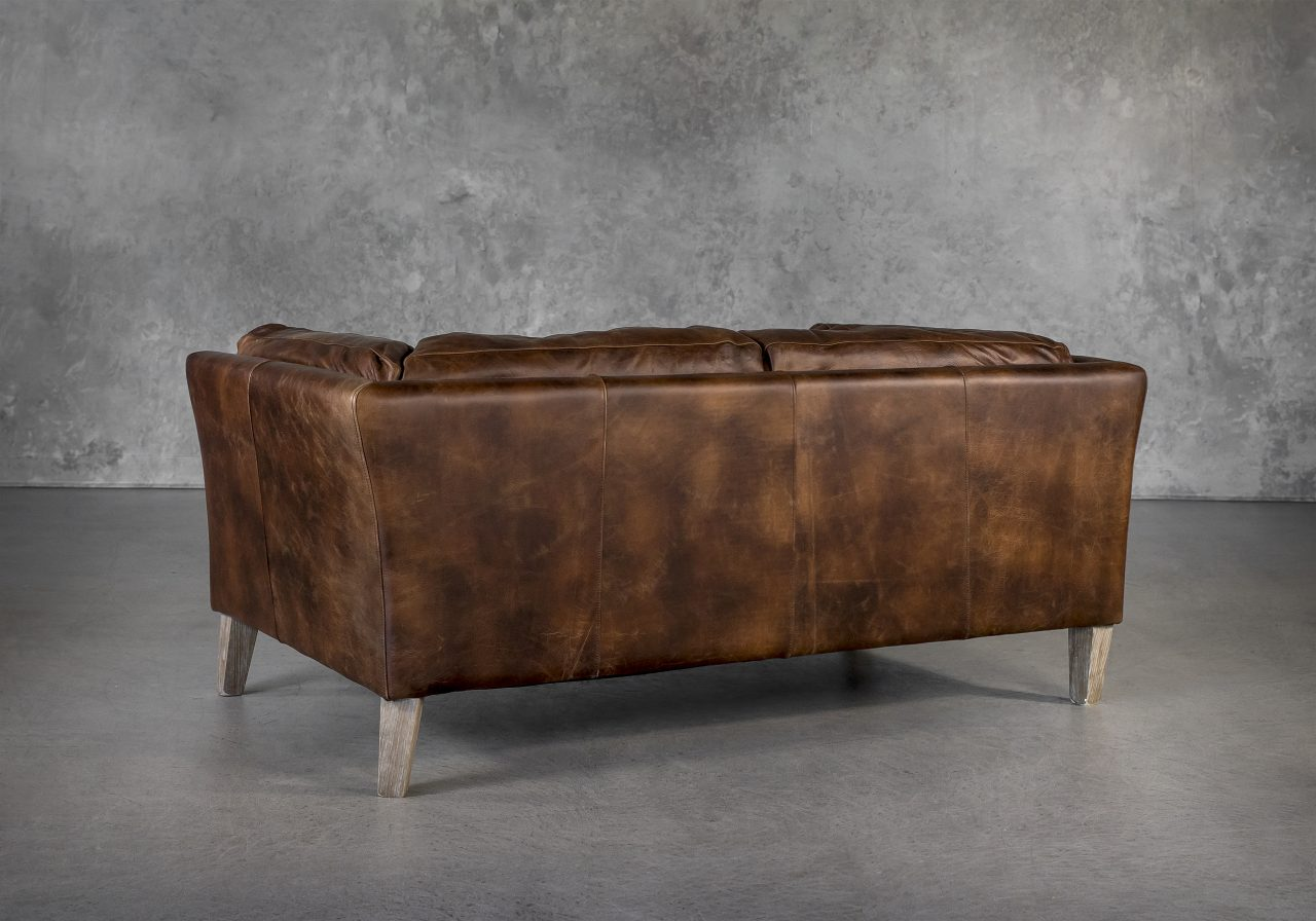 Aspect Loveseat Brown Leather, Back
