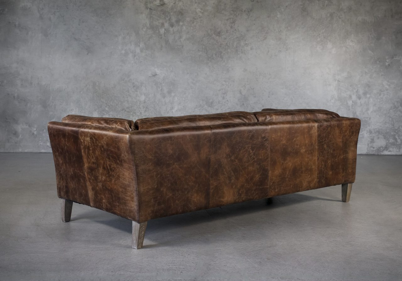 Aspect Sofa Brown Leather, Back