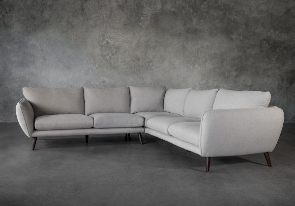 Astella Sectional in Beige Fabric, Angle