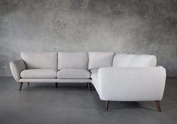Astella Sectional in Beige Fabric, Front