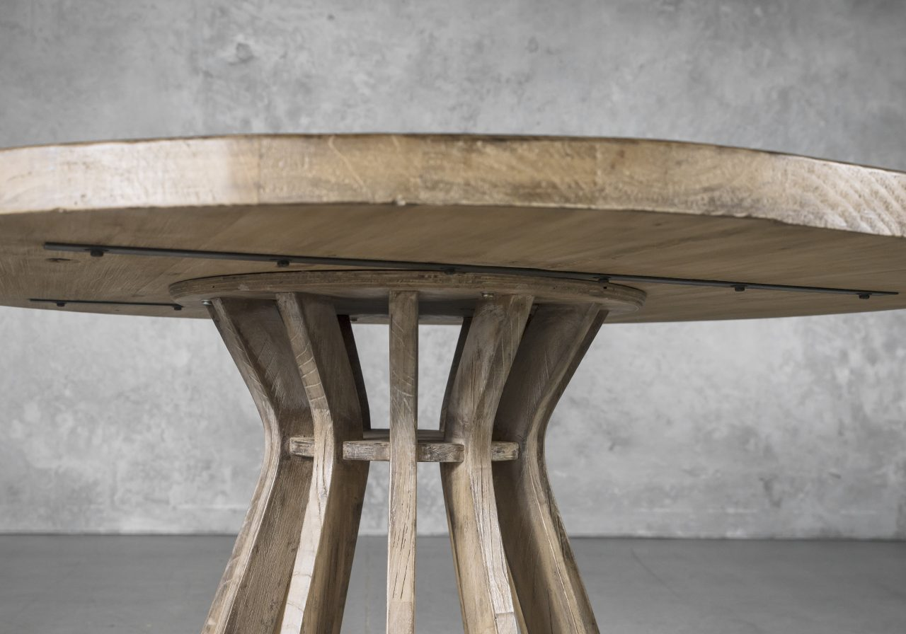 Baffin Round Dining Table, Close Up