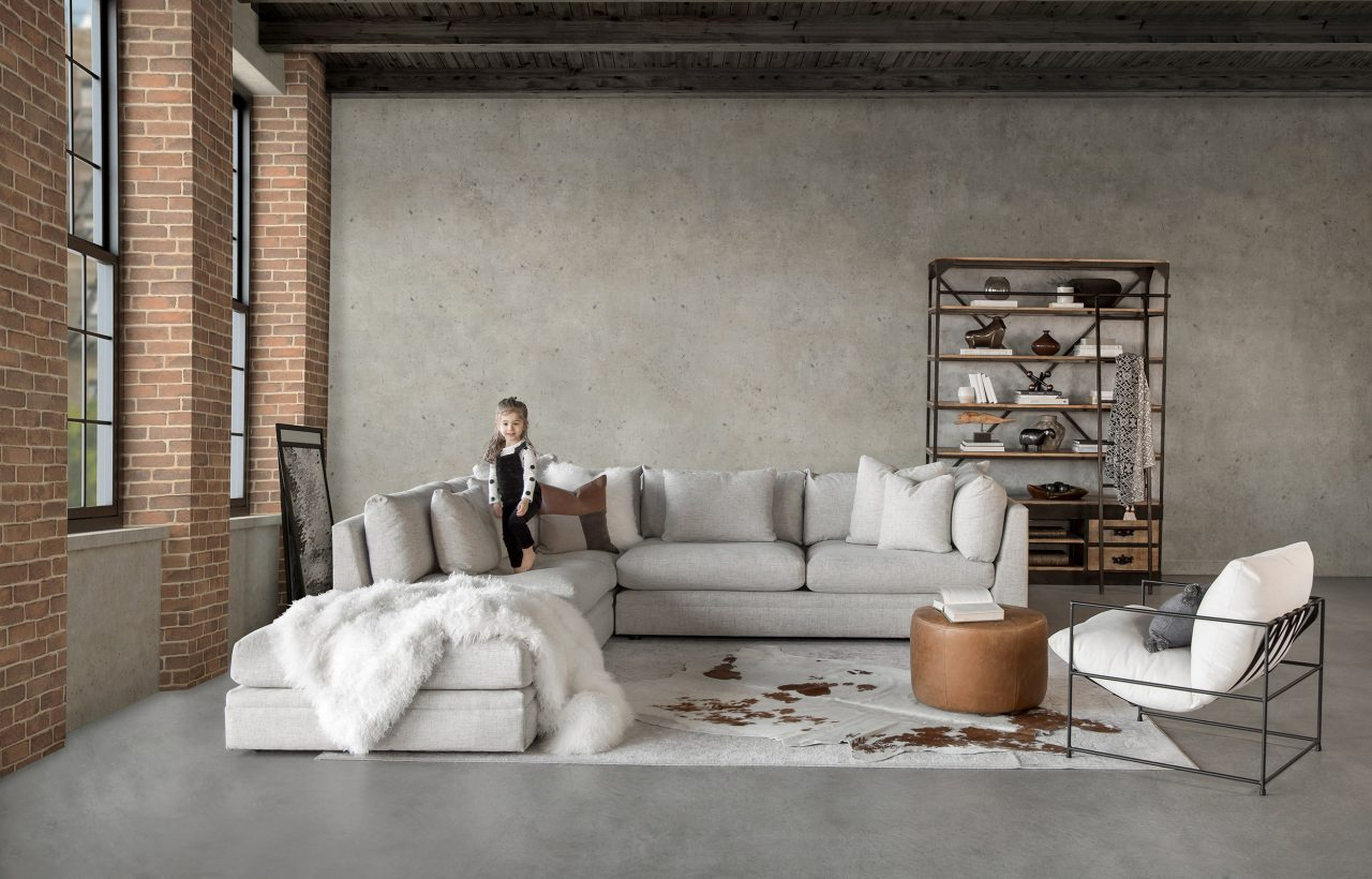 Bradford Sectional, Rug, Ottoman, Accent Chair